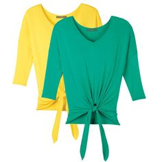 The relaxed knotted top with adjustable ties for a perfect custom fit!Pack of two dolman-sleeve tops, each knotted at the waist. One yellow, one green, both perfect for summer.Introducing Signature Collection: Effortless style that's totally wearable. Pieces that flatter your shape and fit in comfortably with your lifestyle. That's the heart of Avon's Signature Collection. Designed by Avon. Inspired by you. Meet your new favorite Reg. Price: $24.99 To Shop, go to…