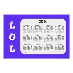Violet LOL #2016Calendar Print