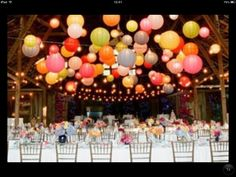 Unusual wedding reception ideas