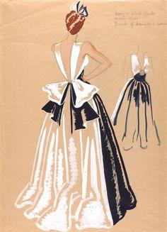 costume design by marjorie best    fashion_design_marjorie_field_drawing