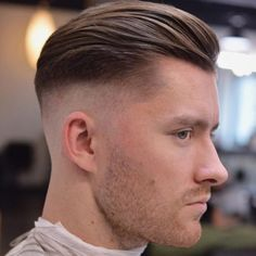Best Men's Haircuts + Hairstyles For A Receding Hairline side-part-pompadour-hairstyle-fine-hair-haircut Cool Mens Haircuts, Haircuts For Fine Hair, Hairstyles Haircuts, Cool Hairstyles, Boy Haircuts, Fresh Haircuts, Classic Mens Hairstyles, French Hairstyles, 2018 Haircuts