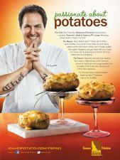 Twice Baked Idaho® Potato with Truffles and Cheddar #RickTramonto