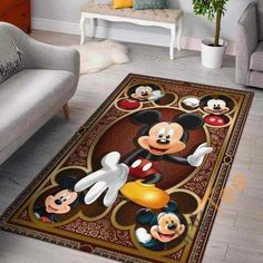 Living Room Area Rugs, Living Room Carpet, Mickey Mouse Kitchen, Mickey Mouse Room, Disney Bedrooms, Great Housewarming Gifts, Beautiful Living Rooms, Floor Decor, Disney Movies