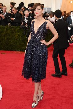 No surprises here — Marion Cotillard wore Dior Haute Couture, naturally. #MetGala