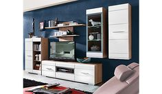 Wohnwand mit LED-Beleuchtung / Wall unit with LED lighting