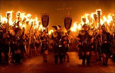 Up Helly Aa In Scotland