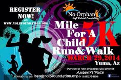 Mile for a Child 5K Run & Walk Yuma, AZ March 29, 2014