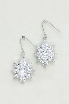 Julia CZ Earrings in Silver