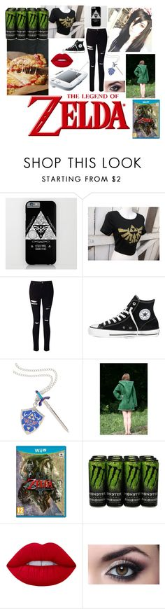 """""""zelda time"""" by roleplay-748 ❤ liked on Polyvore featuring Miss Selfridge, Converse, Nintendo and Lime Crime"""