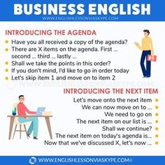 How to start a business meeting in English. Useful phrases for Business English English Learning Spoken, Learn English Grammar, English Writing Skills, English Idioms, English Vocabulary Words, English Phrases, Learn English Words, English Language Learning, Teaching English