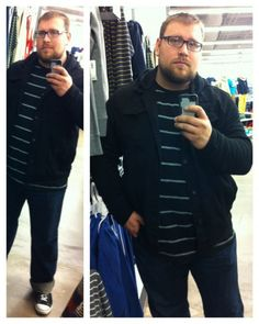 This reader put together his look from goodies at Old Navy, Target and more - get the scoop & send us your photo: http://chubstr.com/2014/submission/photo-mirror-old-navy/