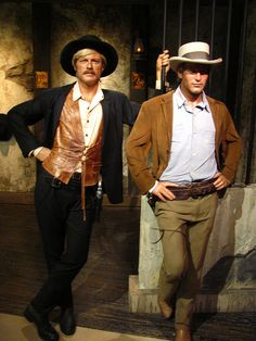 Butch Cassidy and the Sundance Kid figures at Madame Tussauds Hollywood
