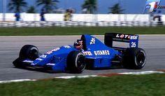 1989 Olivier Grouillard - Ligier Loto Team, Ligier JS33 Ford
