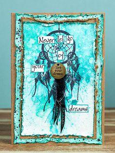 Card by Belinda Spencer using Darkroom Door Dream Catchers Rubber Stamp Set.