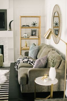 elegant contemporary living room in gray and gold dream homes home decorations