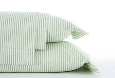 green ticking sheet set on OKL