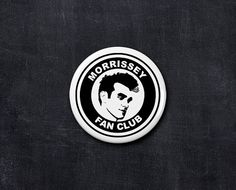 morrissey fan club button by yourfanclub on Etsy