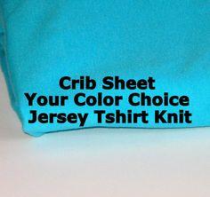 Crib Sheet, Tshirt Knit Crib Sheet, Jersey Knit Crib Sheet, Baby Nursery, Baby Bedding, Ships Fast