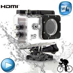 FINCO(TM) New Waterproof SJ4000 Helmet Sports DV 1080P Full HD H.264 12MP Car Recorder Diving Bicycle Action Camera 1.5 Inch LCD 170¡ãWide Angle Lens Outdoor Waterproof HD VCR/CAR DVR/Camera G-Senor Motorbike Camcorder DVR WIFI Edition