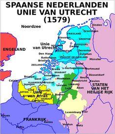 Map Union of Arras and Utrecht - Unie van Utrecht - Wikipedia Utrecht, Rotterdam, Netherlands Map, Spanish Netherlands, World History, Family History, Dutch Revolt, Holland Map, Art History Major