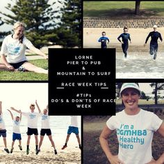 It's race week for the #gmhba #lorne #piertopub #oceanswim and #mountaintosurf #funrun Are you ready?  In the lead up to this weekend we will be bringing you a series of tips to help you on your merry way!  To start off the week here is the link to one of our most popular blog posts 'Do's and Don'ts of Race Week'. Enjoy the read at this link: http://ift.tt/1OFKPYQ  Keep an eye out throughout the rest of the week for more handy hints and we look forward to seeing you on the weekend!  @gmhba…