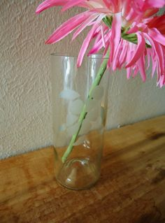 Wine Bottle Vase with Sea Turtle from a Recycled Wine Bottle by ConversationGlass, $18.00