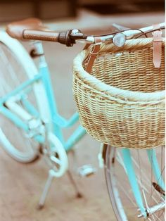 My beau and I want vintage Schwinn bicycles—mine, bubble gum pink and his, sky blue—for rides on the beach...