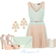 pretty in pastel, created by bonnaroosky on Polyvore