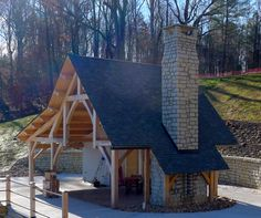 Outdoor Living - Timber Frame Pavilion - Timber Frame Lake Pavilion- Timber Frame Lakeside Pavilion- Lakeside Pavilion - Timber Frame Outdoor Living - Homestead Timber Frames - Crossville Tennessee