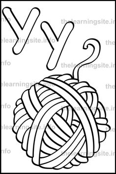 yarn coloring pages - 599×899