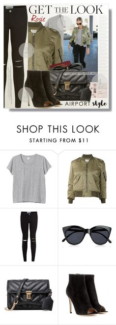 """Fashion In The Air"" by myfashionwardrobestyle ❤ liked on Polyvore featuring Monki, Yves Saint Laurent, Whiteley, New Look, Le Specs and Gianvito Rossi"