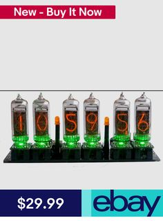 Nixie Clock Kit (no tubes) Arduino Open Source with Removable Tubes Arduino Board, Nixie Tube, Digital Clocks, Open Source, Radios, Consumer Electronics, Ebay, Kit, Products