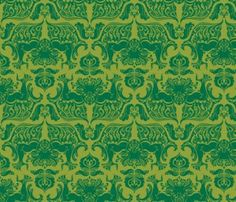 Cthulhoid damask wallpaper (also fabric & wrapping paper)