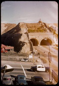 A very rare color and candid snapshot of the demolition of the Hill St tunnels dated 12-1-54
