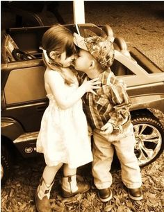 country love- start 'em at a young age and lovin those boys in trucks ;)