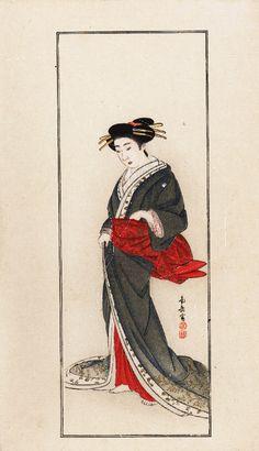 Antique Original Meiji period Japanese Hand by RarePostCards