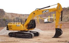 Download wallpapers JCB JS 300 LC, dumper, excavator, quarry, special machinery, JCB