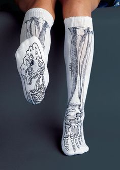 Bones Socks - Available in Black and White, these are a great gift!