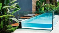 The Perfect Pool Design For Small Backyards Love this! #pool #outdoorspaces #smallbackyard