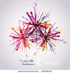 abstract hand drawn watercolor background firework vector illustration stain watercolors colors wet on wet paper. watercolor composition for scrapbook elements. Watercolor Fireworks, Fireworks Art, Watercolor Cards, Watercolor Background, Abstract Watercolor, Watercolor Paintings, Watercolors, Firework Tattoo, Clip Art