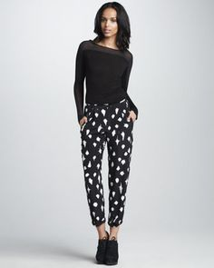 Love this whole look! Starlight-Print Pants at CUSP.