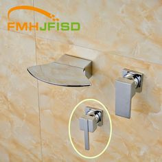 67.62$  Buy here - http://ai2fo.worlditems.win/all/product.php?id=32718304708 - Two Types Handle Chrome Finish Wall Mounted Single Handle Bathroom Mixer Water Taps High Quality Best Price
