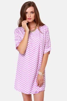 Lavender chevron dress! Get 7% Cash Back http://www.studentrate.com/itp/get-itp-student-deals/lulu-s-Student-Discount--/0