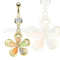 Body and Piercing Jewelry - Fashionable Rings - Pierced Fish