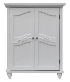 Buy Elegant Home Fashion Vera 2-Door Floor Cabinet, White - Reviewhomkit.com ✓ FREE DELIVERY possible on eligible purchases