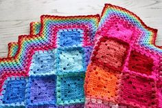 Felted Button - Colorful Crochet Patterns: Happiness + Harlequins = Happy Harlequin Blanket--Free Crochet Pattern