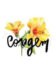 Frases, coragem, lettering, flor, floral, tipografia