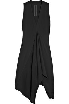 Rick Owens handkerchief crepe tunic Rick Owens tunic has a V-neck, gathering from V-shaped front seam and simply slips on. 54% acetate, 46% silk. Dry cle