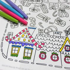 Hello friends! This is Mandy from Mandy Ford Art & Illustration, and I'm super excited to be here today sharing my printable Christmas coloring page! I've been illustrating coloring pages for two years now and these holiday scenes are some of my absolute favorites to draw. This one was my eight-year-old son Ben's idea! I …