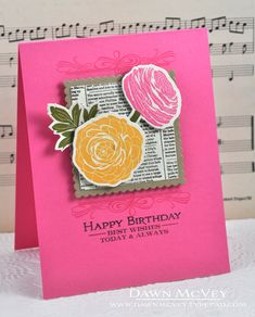 Happy Birthday Wishes Card by Dawn McVey for Papertrey Ink (March 2013)